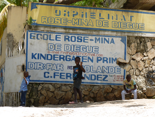 Rose-mina Orphanage Sign